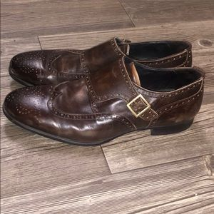 zara man Monk Strap Dress Shoes 👞